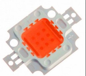 Chip LED - 10w - Para Reparo de Refletor - Vermelho