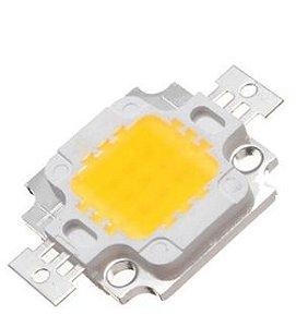Chip LED - 10w - Para Reparo de Refletor - Branco Quente