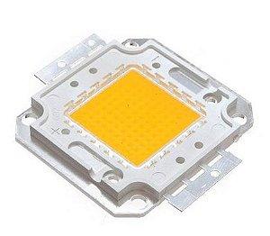 Chip LED - 50w - Para Reparo de Refletor - Branco Quente