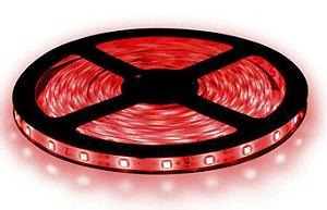 Fita LED - 5050 Vermelha - Rolo com 5 Metros - 14w  - 60 LEDs por Metro - IP20 (sem Silicone) - 12V