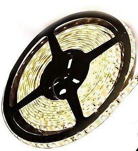 Fita LED - 3528 Branco Quente (3000k) - Rolo com 5 Metros - 24w - 120 LEDs por Metro - IP20 (sem Silicone) - 12V