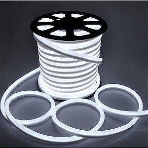 Mangueira Fita LED Neon Flexivel Luz Branco frio 6000k - 12w por metro - 127v -  IP65 - Rolo com 100 Metros