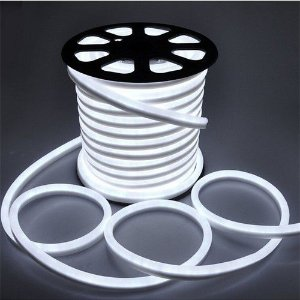 Mangueira Fita LED Neon Flexivel Luz Branco frio 6000k - 07w por metro - 12v -  IP65 - Rolo com 50 Metros
