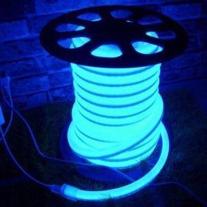 Mangueira Fita LED Neon Flexivel Luz Azul claro - 07w por metro - 12v -  IP65 - Rolo com 50 Metros