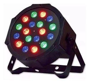Canhão Refletor - Par 64 - 18 LEDs RGB - Strobo - Jogo de Luz para Festas