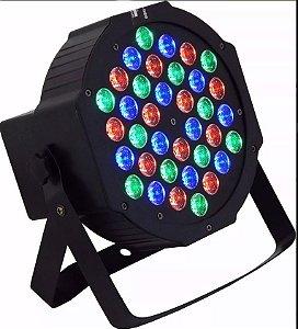 Canhão Refletor - Par 64 - 36 LEDs RGB - Strobo - Jogo de Luz para Festas