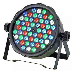 Canhão Refletor - Par 64 - 54 LEDs - RGB - Strobo - Jogo de Luz para Festas