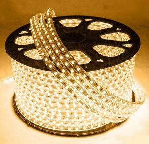 Mangueira LED Chata Rolo com 100m Branco Quente 110v  - À prova d'água