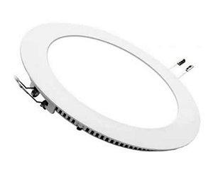 Luminária Plafon 12w LED Embutir Redond Branco Quente 3000K