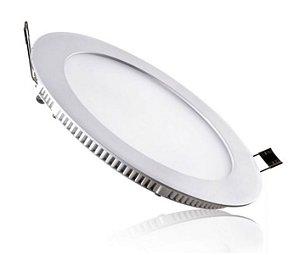 Luminária Plafon 18w LED Embutir Redonda Branco Quente 3000K