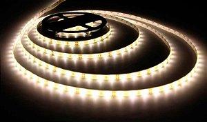 Fita LED - 5050 Branco Morno (4000K) - Rolo com 5 Metros - 14w  - 60 LEDs por Metro - IP65 (com Silicone) - 12V