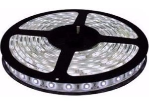 Fita LED - 5050 Branco Frio (6000K) - Rolo com 5 Metros - 6w  - 60 LEDs por Metro - IP65 (com Silicone) - 12V