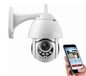 Câmera IP Externa de Segurança - WiFi Dome Infra - Prova D'água - ICSee 360º - Infravermelho - Visão Noturna