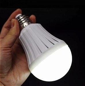 Lampada Led Bulbo de Emergência - 07w - Branco Frio - Bivolt