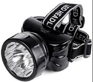 Lanterna Recarregável DE CABEÇA DP-781   LEDs: 8 + 1 leds