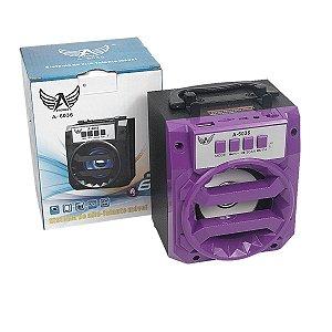 Caixa de som Bluetooth Roxo