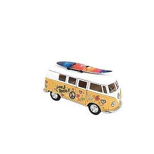 Carrinho de brinquedo Volkswagen Classical Bus 1962 amarelo