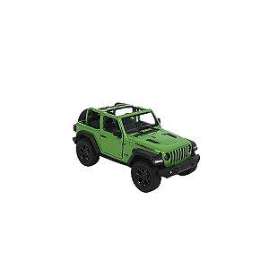 Carrinho de brinquedo Jeep Wrangler 2018 verde