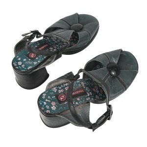 Sapato Selo de controle verde escuro 35