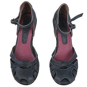 Sapato Selo de controle azul 35