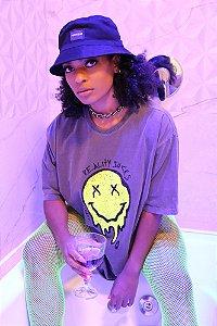 T-shirt Acid Estonada  Estampa Neon