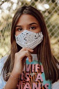 Máscara Bandana Algodão Lavável Princess