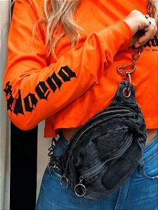 Pochete Black Jeans Metal Gringa