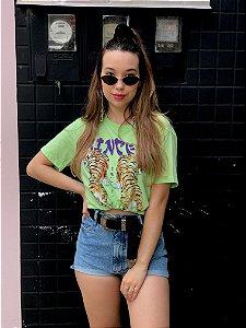 Camiseta Tigre Princess Verde Estonado