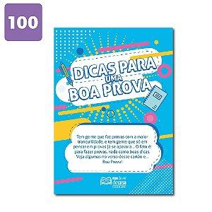 Panfleto Dicas para uma Boa Prova (100 unidades)