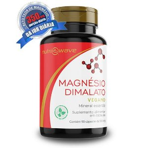 Magnésio Dimalato Puro Nutriwave Super Concentrado - Cápsula Vegana