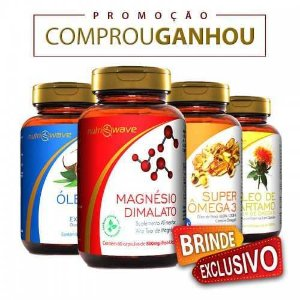 3 Kits Quarteto Fantástico Nutriwave - Brinde Exclusivo
