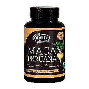 Maca Peruana Premium 550mg com 120caps Unilife