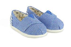 Alpargata infantil azul