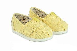 Alpargata infantil amarela