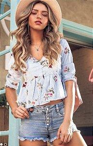 Short Jeans com botões