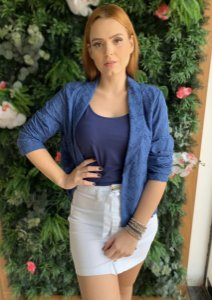 Blazer azul Maria Valentina