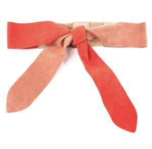Cinto de Cintura Bicolor Nude/vermelho