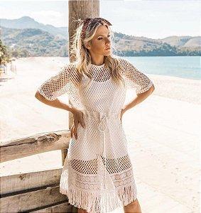 Vestido em tela branco