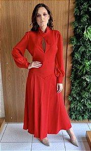 Vestido vermelho longo