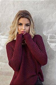 Tricot crochet marsala