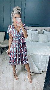 Dress abstrato midi