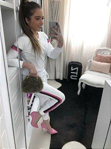 Conjunto White Pink