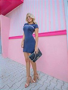 Dress Marinho Lilac
