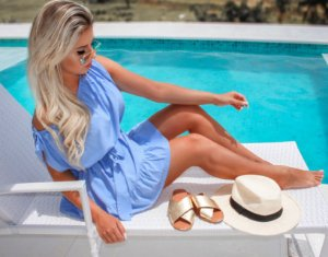 Blusa Bata Blue
