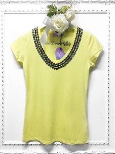 T-shirt yellow brilho