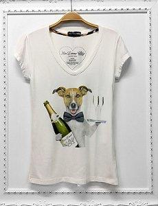 T-shirt dog Champagne