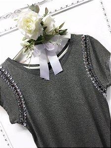 Blusa shoulder luxo