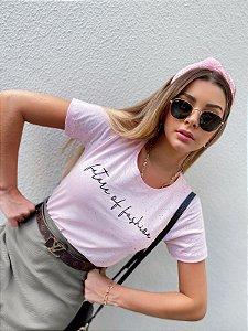 Tee Future of Fashion Rosa botone
