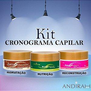 Kit Cronograma Capilar - Mascara de Hidratação - Mascara de Nutrição Capilar- Mascara de Reconstrução Capilar