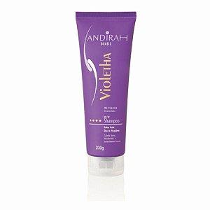 Shampoo Matizador – O melhor matizador de cabelo loiro, platinados e grisalhos - Violetha - Sem sal -  Andirah Brasil